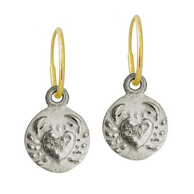 Cancer • Endless Hoop Charm Earring-Brevard