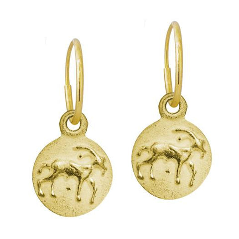 Gold Capricorn Earring-Brevard