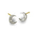 Tiny Center Moon Stud Earring-Brevard