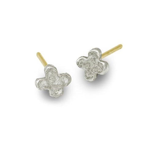 Tiny Center Cross Stud Earring-Brevard