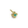 Gold Turquoise Tiny Center Cross Stud Earring-Brevard