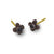 Black Diamond Tiny Center Cross Stud Earring-Brevard