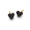 Oxidzed Tiny Center Heart Stud Earring-Brevard