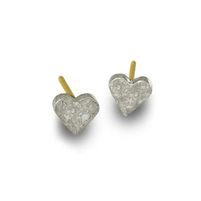 Tiny Center Heart Stud Earring-Brevard