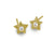 Gold Tiny Center Star Stud Earring with Stone-Brevard