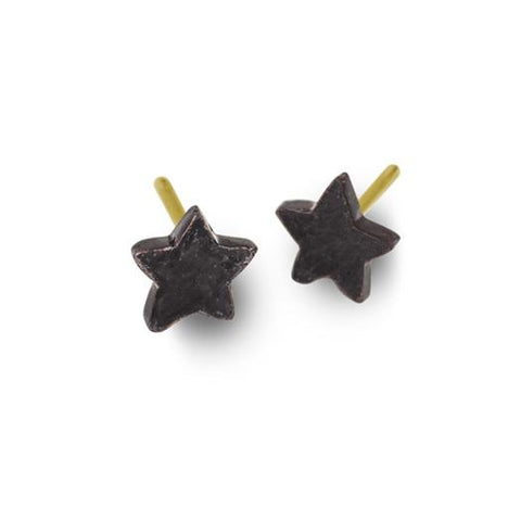 Oxidized Tiny Center Star Stud Earring-Brevard