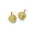 Gold Center Stud Earring-Brevard