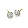 Center Stud Earring with Stone-Brevard