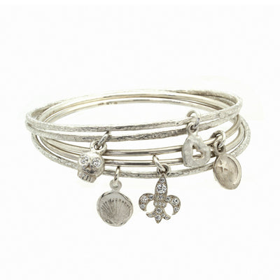 Star and Crescent Charm Bangle-Brevard