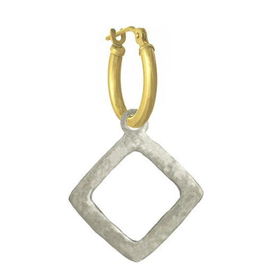 Diamond Compass • Latch Hoop Charm Earring-Brevard