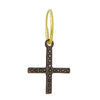 Black Diamond Compass Cross • Endless Hoop Charm Earring-Brevard