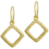 Gold Diamond Compass • Endless Hoop Charm Earring-Brevard
