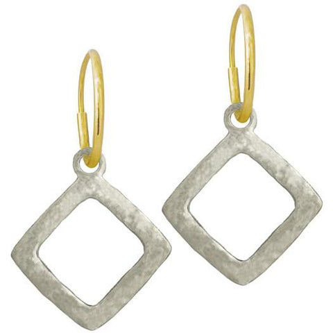 Diamond Compass • Endless Hoop Charm Earring-Brevard