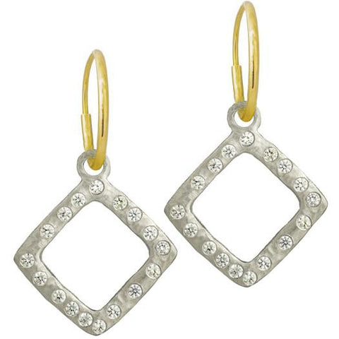 Diamond Compass Earring with Stone-Brevard