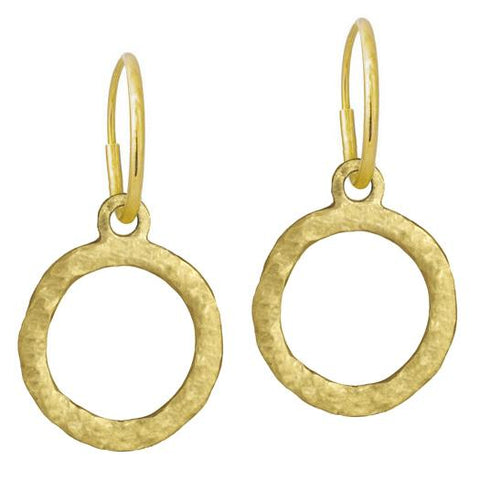 Gold Compass Earring-Brevard