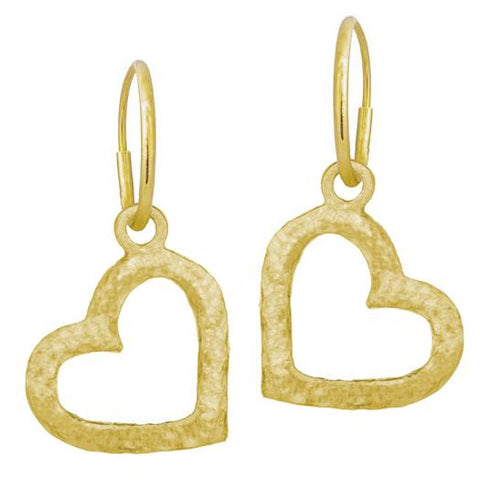 Gold Compass Heart Earring-Brevard
