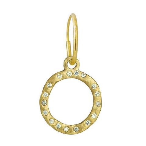 Gold Compass Earring with Stones-Brevard