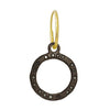Black Diamond Compass • Endless Hoop Charm Earring-Brevard