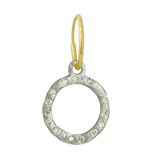 Compass with Stones • Endless Hoop Charm Earring-Brevard