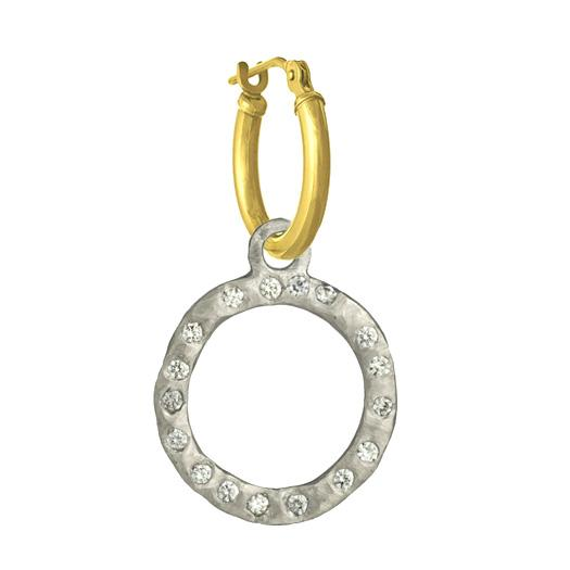 Compass with Stones • Latch Hoop Charm Earring-Brevard