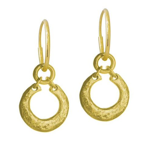 Gold Crescent Earring-Brevard