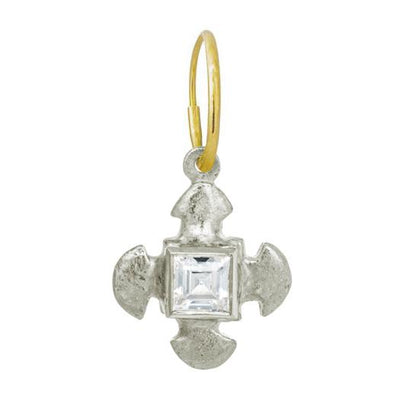 Cruz Cross with Stone • Endless Hoop Charm Earring-Brevard