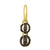 Black Diamond Lotus Double Drop • Endless Hoop Charm Earring-Brevard