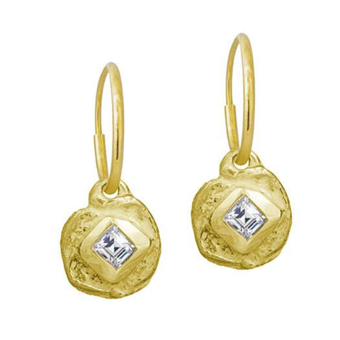 Gold Diamond Dot Earring-Brevard
