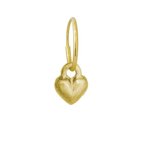Gold Double Heart Earring-Brevard