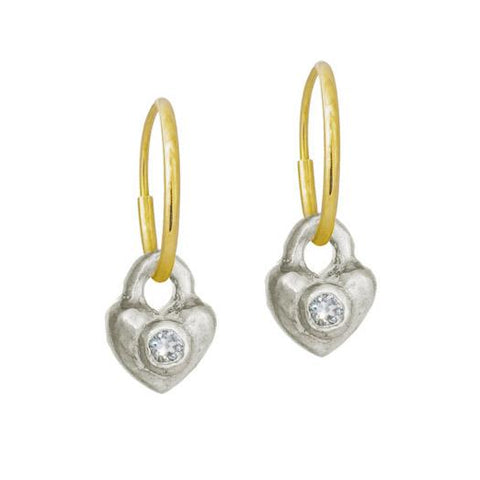 Double Heart Earring with Stone-Brevard