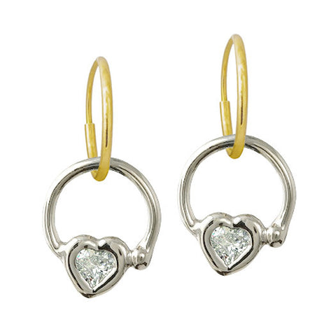 Double Hoop Heart Earring-Brevard