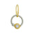 Two-Tone Double Hoop • Endless Hoop Charm Earring-Brevard