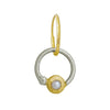 Two-Tone Pearl Double Hoop • Endless Hoop Charm Earring-Brevard