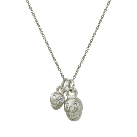 Double Rodger Charm Necklace with Stones-Brevard