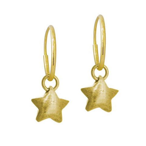 Gold Double Star Earring-Brevard