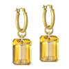 Citrine Jumbo Drilled Stone • Latch Hoop Charm Earring-Brevard