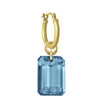 London Blue Topaz Jumbo Drilled Stone • Latch Hoop Charm Earring-Brevard