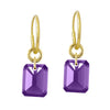 Amethyst Drilled Stone • Endless Hoop Charm Earring-Brevard