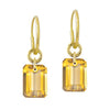 Citrine Drilled Stone • Endless Hoop Charm Earring-Brevard