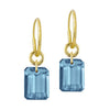 London Blue Topaz Drilled Stone • Endless Hoop Charm Earring-Brevard