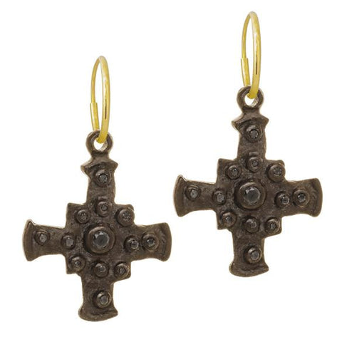 Black Diamond Medium E.T. Cross Earring-Brevard