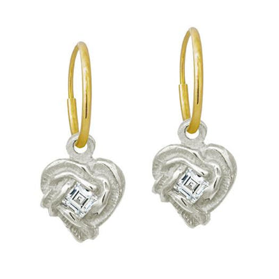 Fancy Heart • Endless Hoop Charm Earring-Brevard