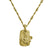 Gold Fleur de Lis Layered Tablet Necklace-Brevard