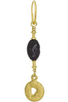 Gold Fancy Old Money Earring with Black Spinel-Brevard