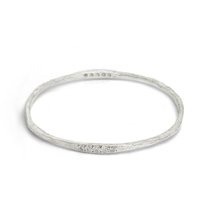 10 Stone Hammered Bangle-Brevard