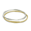 Gold Hammered Bangle-Brevard