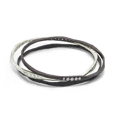 Oxidized Hammered Bangle-Brevard