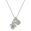 Hamsa + Ohm Double Charm Necklace with Turquoise-Brevard