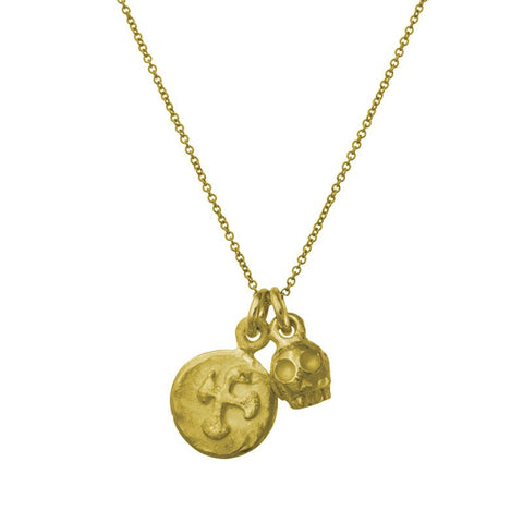 Gold Hispaniola Double Charm Necklace-Brevard