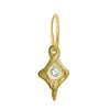 Gold Hummingbird • Endless Hoop Charm Earring-Brevard